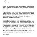 RAF letter