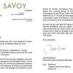 Savoy Letter