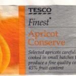 Tesco: Finest Apricot Conserve